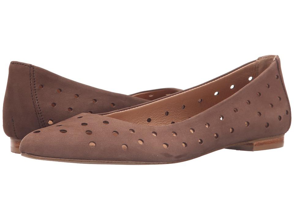 Corso Como Gabrielle Mid Brown Nubuck Womens Flat Shoes