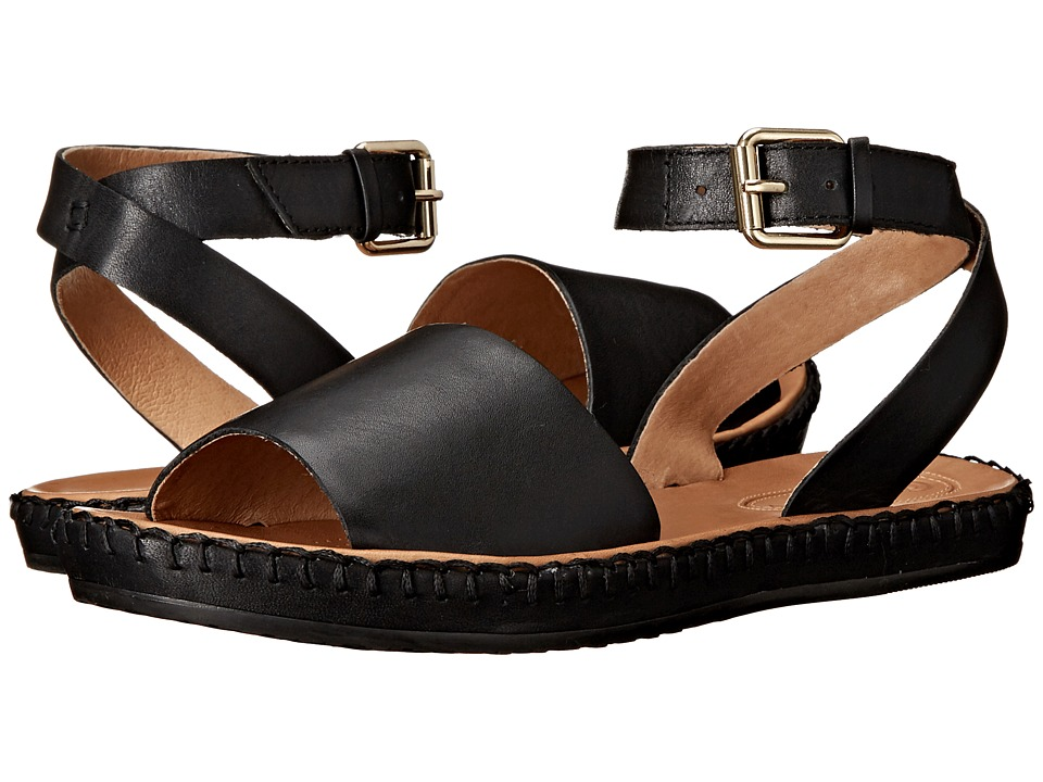 Corso Como Brinkley Black Leather Womens Sandals