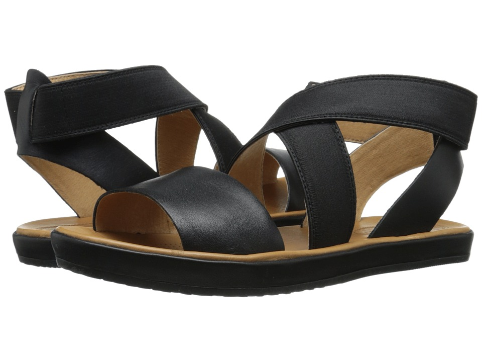 Corso Como Brune Black Leather Womens Sandals