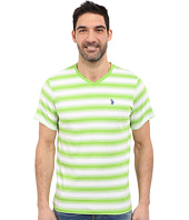 U.S. POLO ASSN. - Short Sleeve Shadow Stripe V-Neck T-Shirt