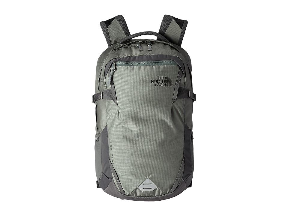 The North Face - Iron Peak Backpack (Moon Mist Grey/Duck Green) Backpack Bags