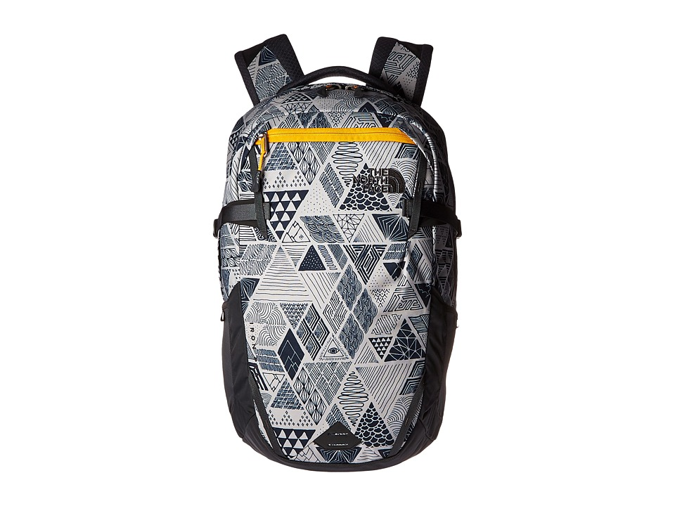 The North Face - Iron Peak Backpack (Trickonometry Print/Radiant Yellow) Backpack Bags