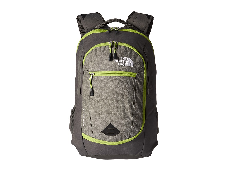 The North Face - Pivoter Backpack (London Fog Heather/Chive Green) Backpack Bags
