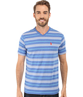U.S. POLO ASSN. - Multicolor Shadow Striped V-Neck T-Shirt