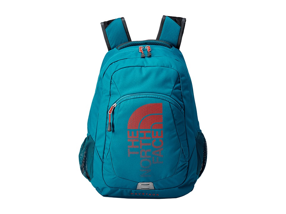 The North Face - Haystack (Ocean Depths Blue/Poiniana Orange) Backpack Bags