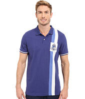 U.S. POLO ASSN. - Vertical Stripe Logo Patch Pique Polo Shirt