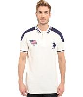 U.S. POLO ASSN. - Embellished Sporty Pique Polo Shirt