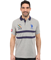 U.S. POLO ASSN. - Chest Striped Pique Polo Shirt