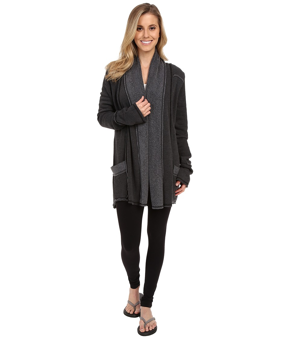 Hard Tail Slouchy Cardigan (Black) Women's Sweater