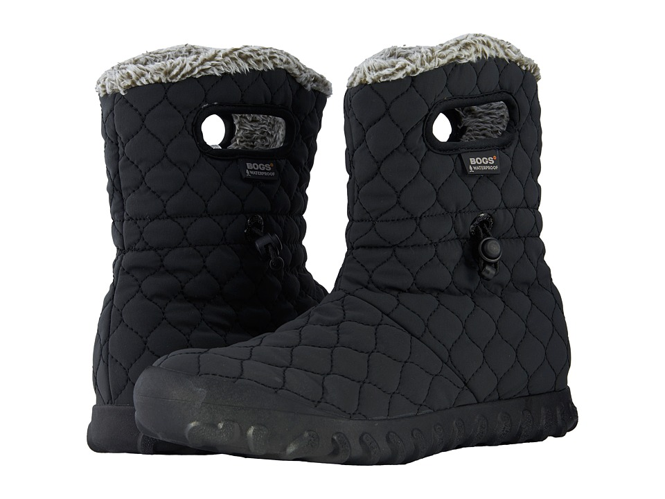 Bogs B-Moc Quilted Puff (Black) Women's Waterproof Boots
