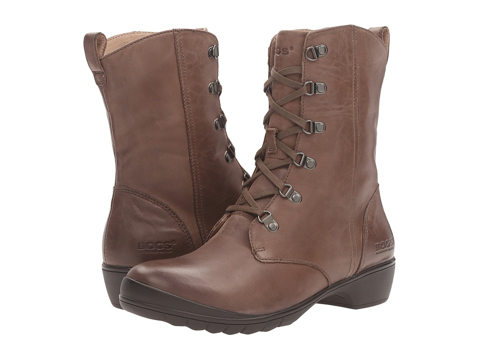 Bogs Carrie Lace Mid Boot (Taupe Multi) Women