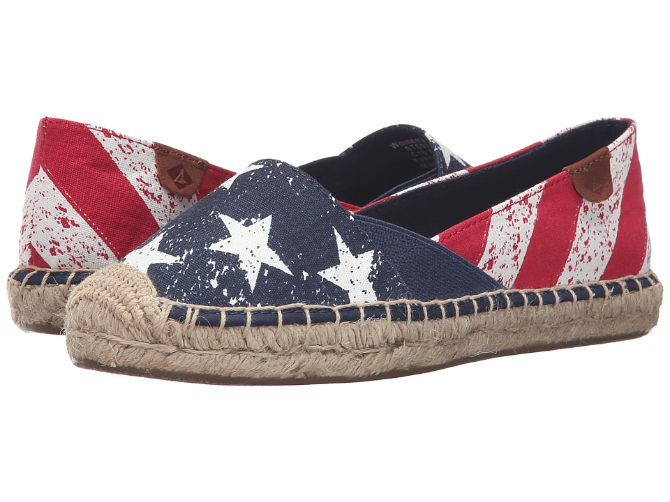 Sperry Top-Sider - Cape Stars and Stripes (Red/White/Navy) Women