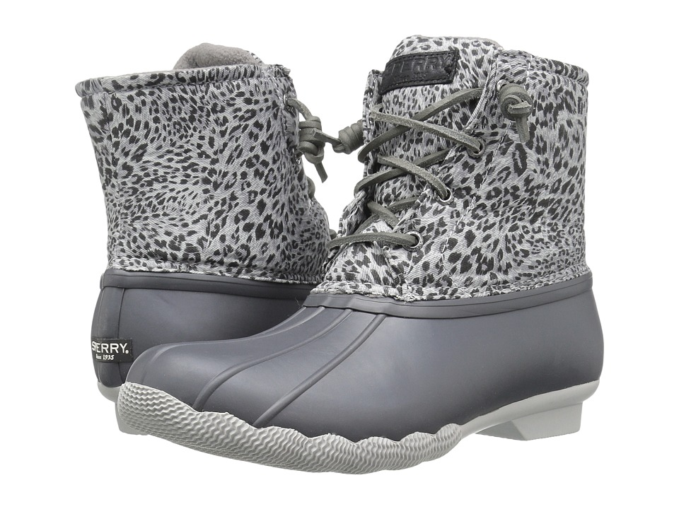 Sperry Top-Sider Saltwater Prints (Dark Grey/Cheetah) Women