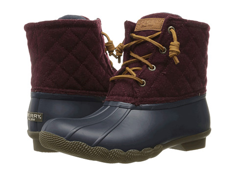 Sperry Top-Sider Saltwater Quilted Wool - Navy/Maroon
