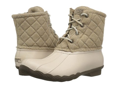 Sperry Saltwater Quilted Wool - Oyster/Oatmeal