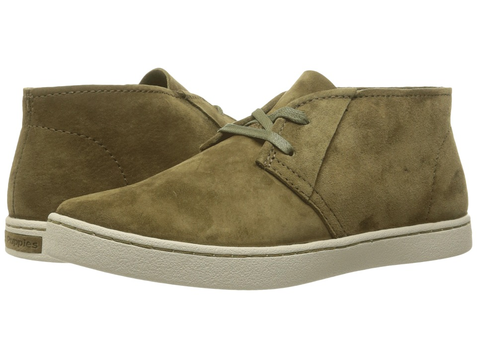Hush Puppies - Cille Gwen (Dark Olive Suede) Women