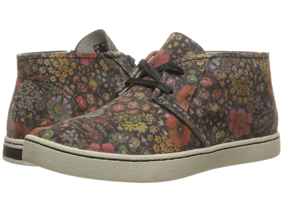 Hush Puppies - Cille Gwen (Black Floral Suede) Women
