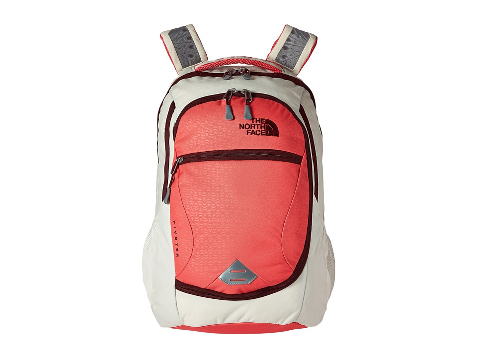 The North Face - Pivoter (Calypso Coral Emboss/Deep Garnet Red) Backpack Bags
