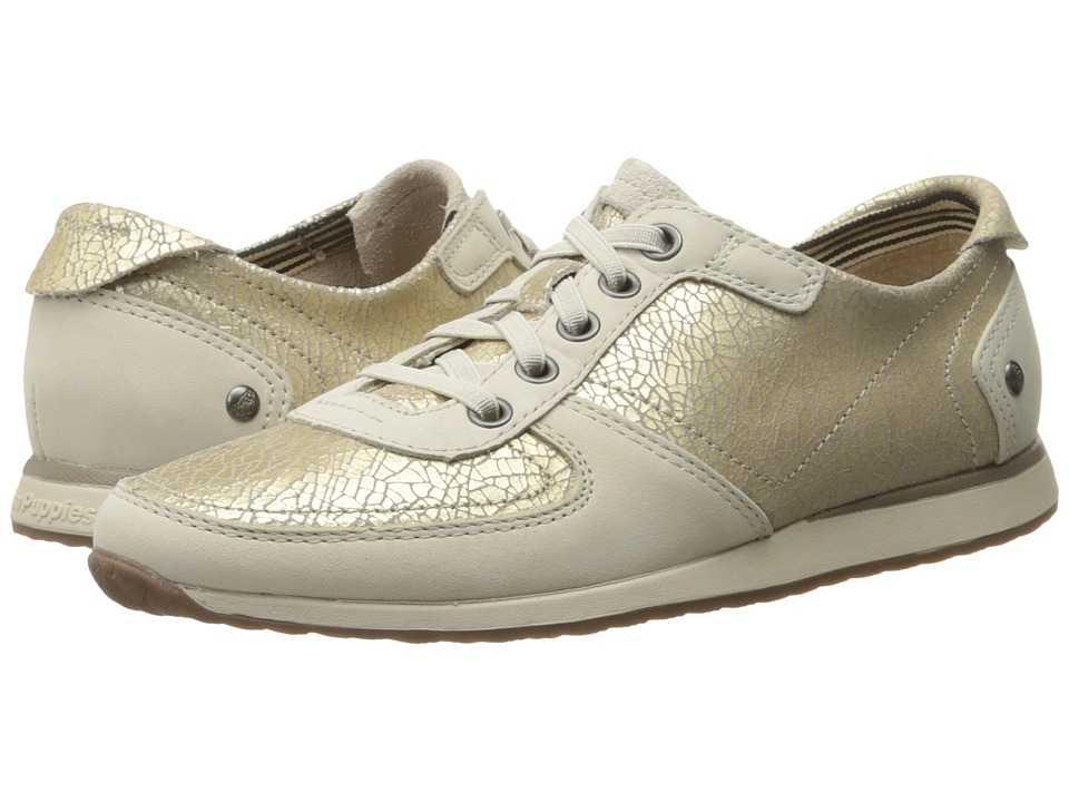 Hush Puppies - Chazy Dayo (Light Gold Crackled Leather) Women