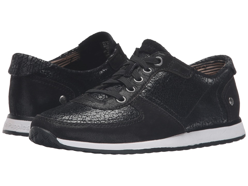 Hush Puppies - Chazy Dayo (Black Crackled Leather) Women
