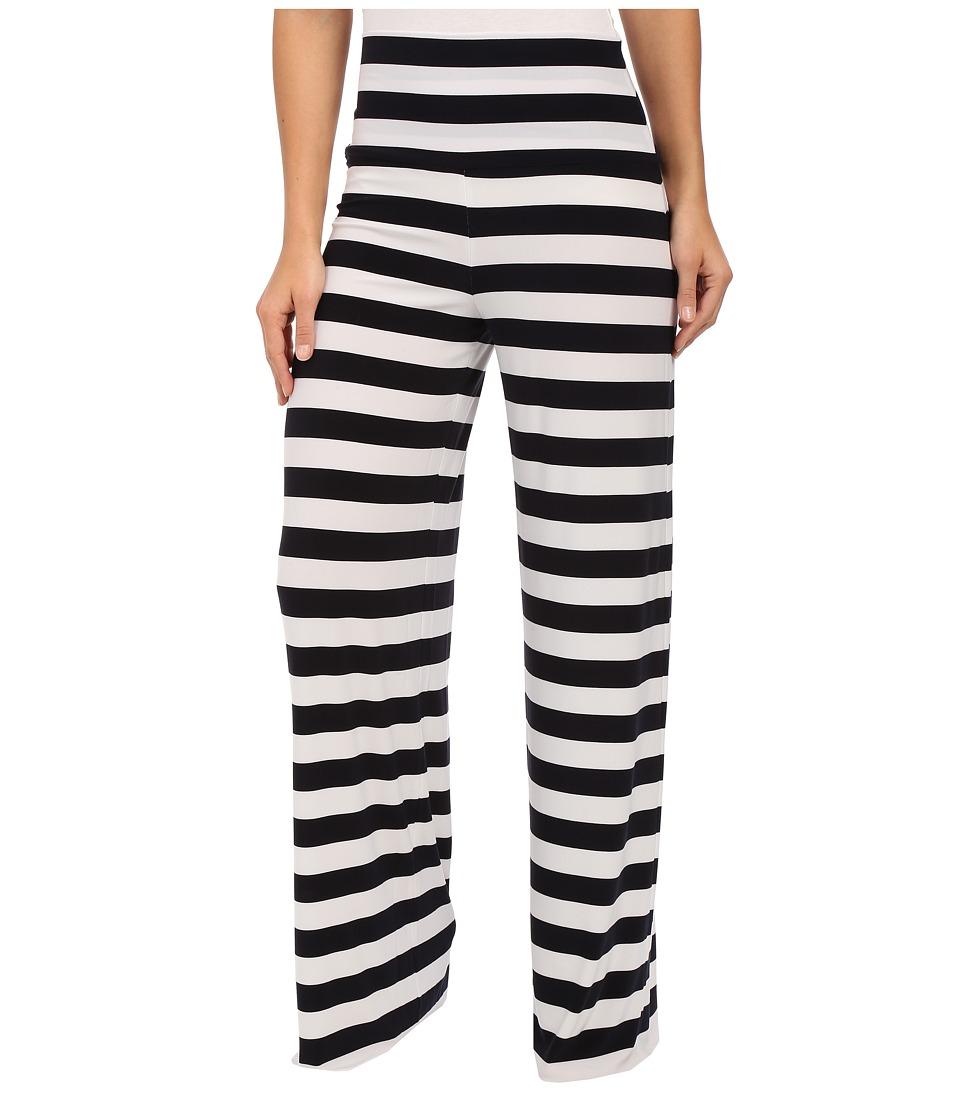 KAMALIKULTURE by Norma Kamali Straight Leg Pants Go Midnight/White Stripe Womens Casual Pants