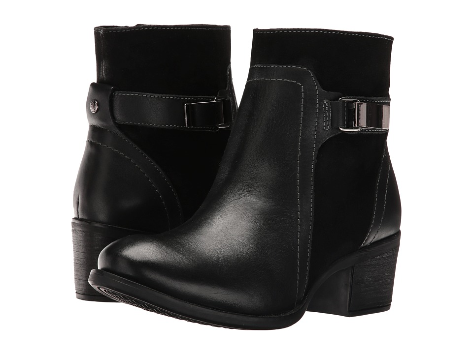 Hush Puppies Fondly Nellie (Black Leather/Suede) Women