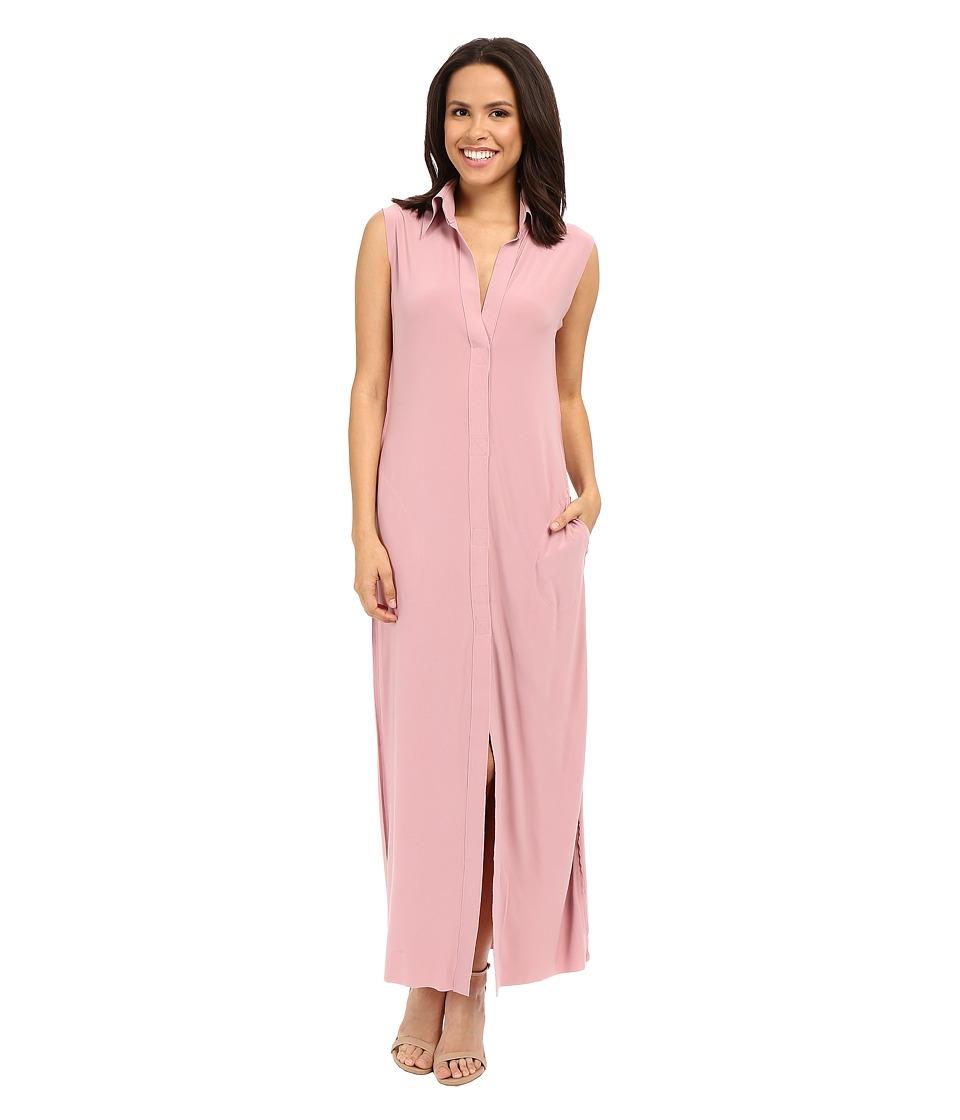 KAMALIKULTURE by Norma Kamali Sleeveless Long NK Shirt Pink Womens Dress