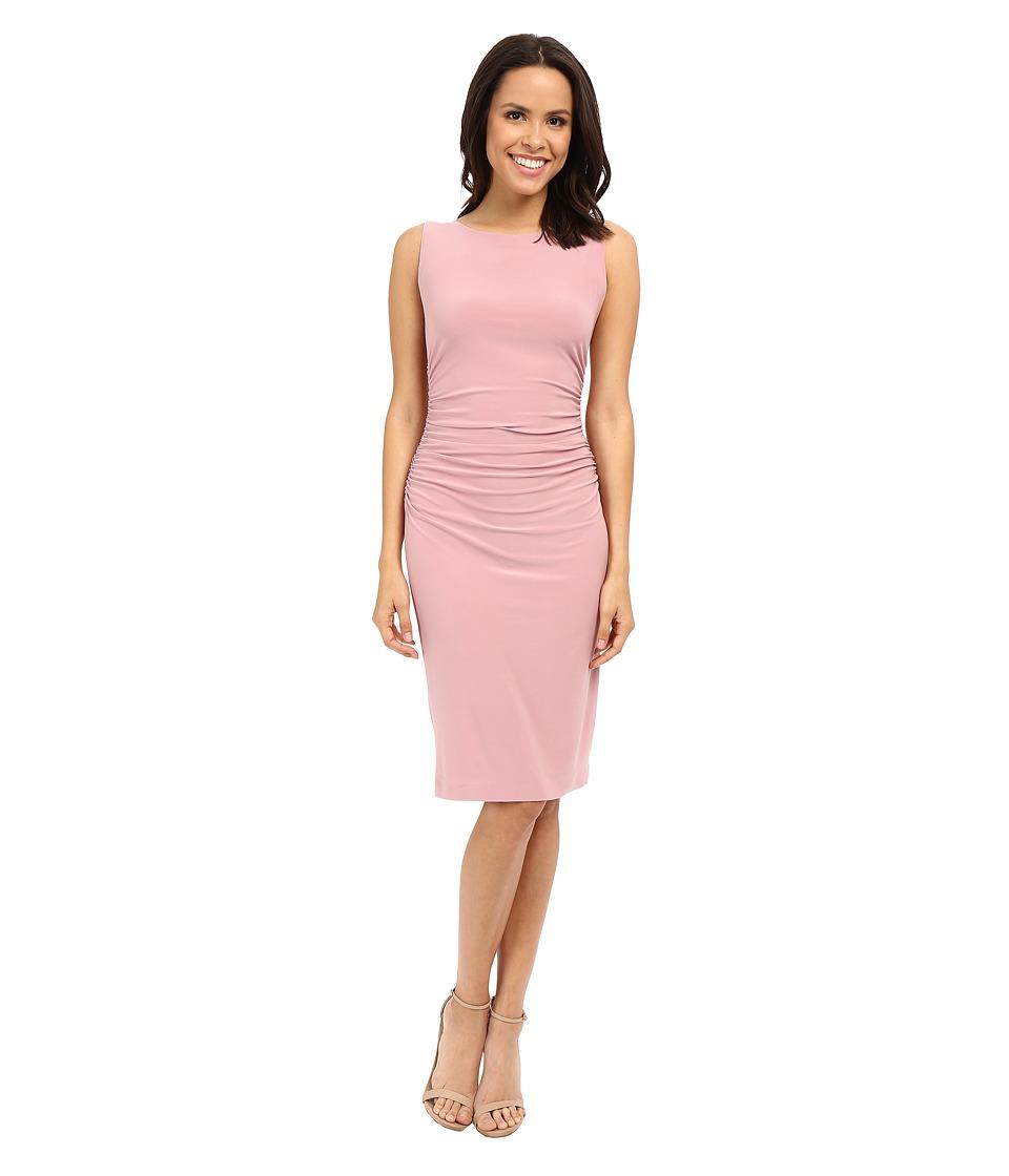 KAMALIKULTURE by Norma Kamali Shirred Waist Dress Pink Womens Dress