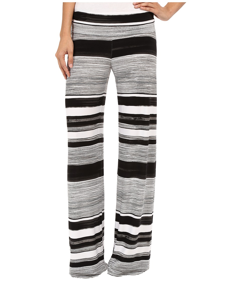 KAMALIKULTURE by Norma Kamali Straight Leg Pants Go Writing Stripe Womens Casual Pants