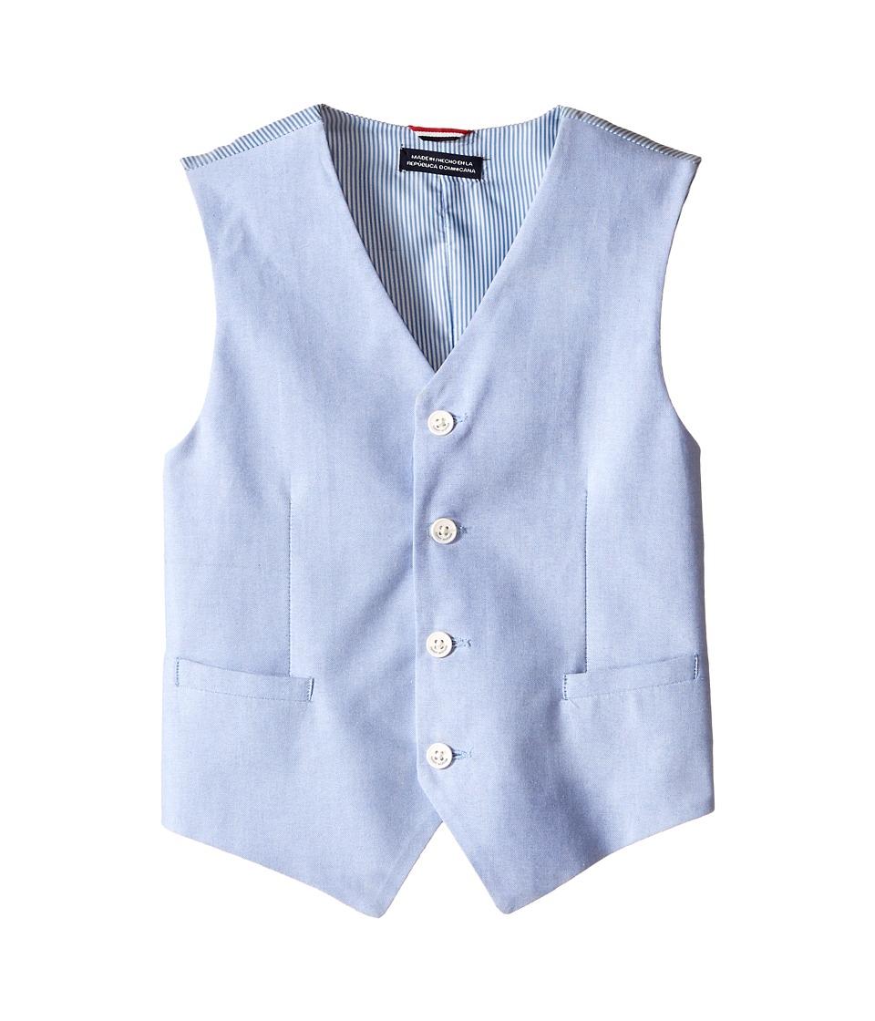 Tommy Hilfiger Kids Yarn Dyed Oxford Vest Big Kids Medium Blue Boys Vest