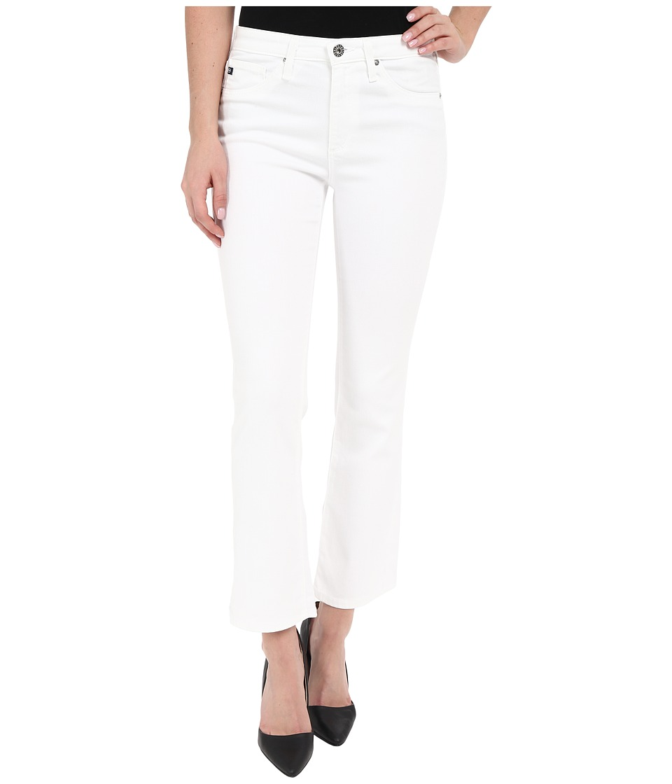 AG Adriano Goldschmied The Jodi Crop in White White Womens Jeans