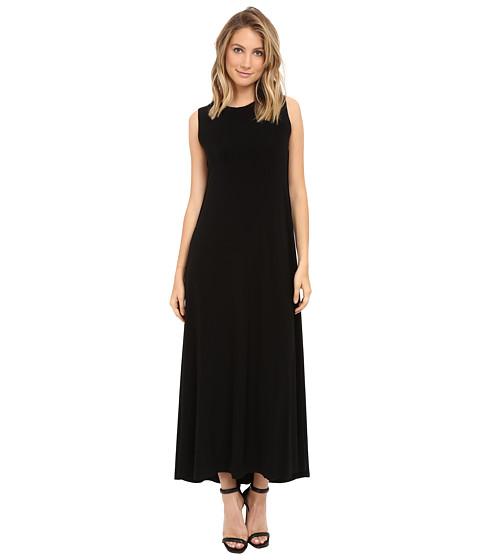 KAMALIKULTURE by Norma Kamali Sleeveless Long Swing Dress - Black
