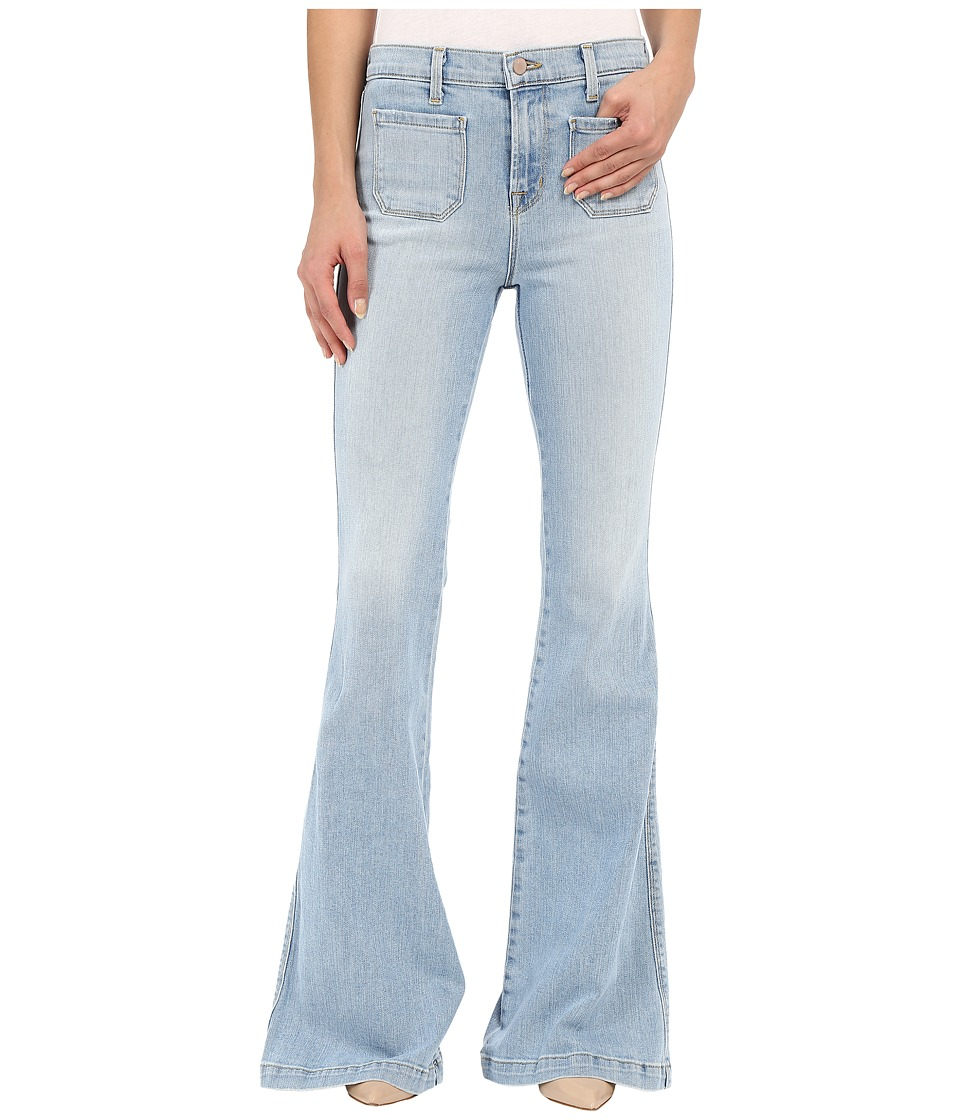 J Brand Demi Patch Pocket Flare in Beach Line Beach Line Womens Jeans