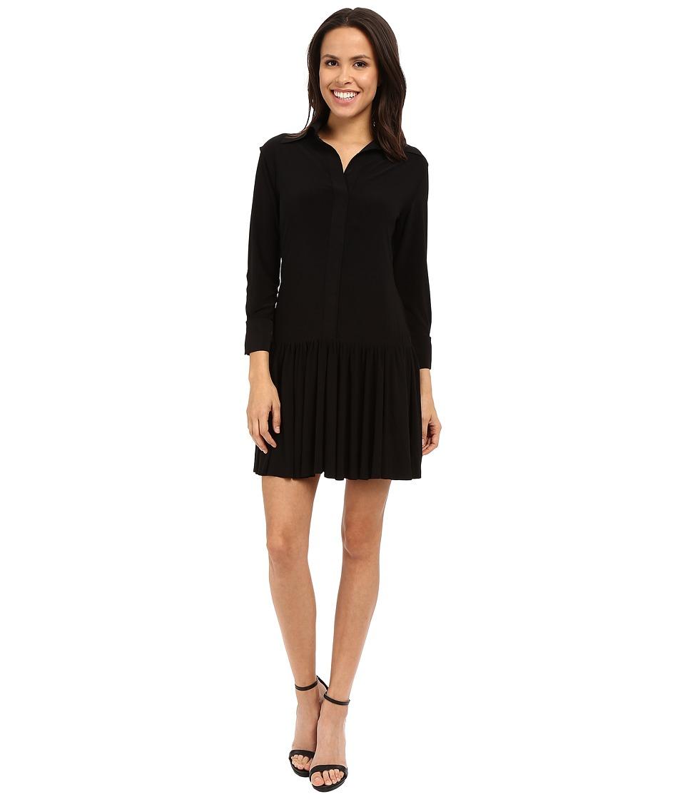 KAMALIKULTURE by Norma Kamali NK Ra Ra Shirtdress Black Womens Dress