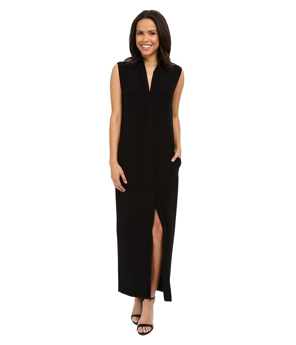KAMALIKULTURE by Norma Kamali Sleeveless Long NK Shirt Black Womens Sleeveless