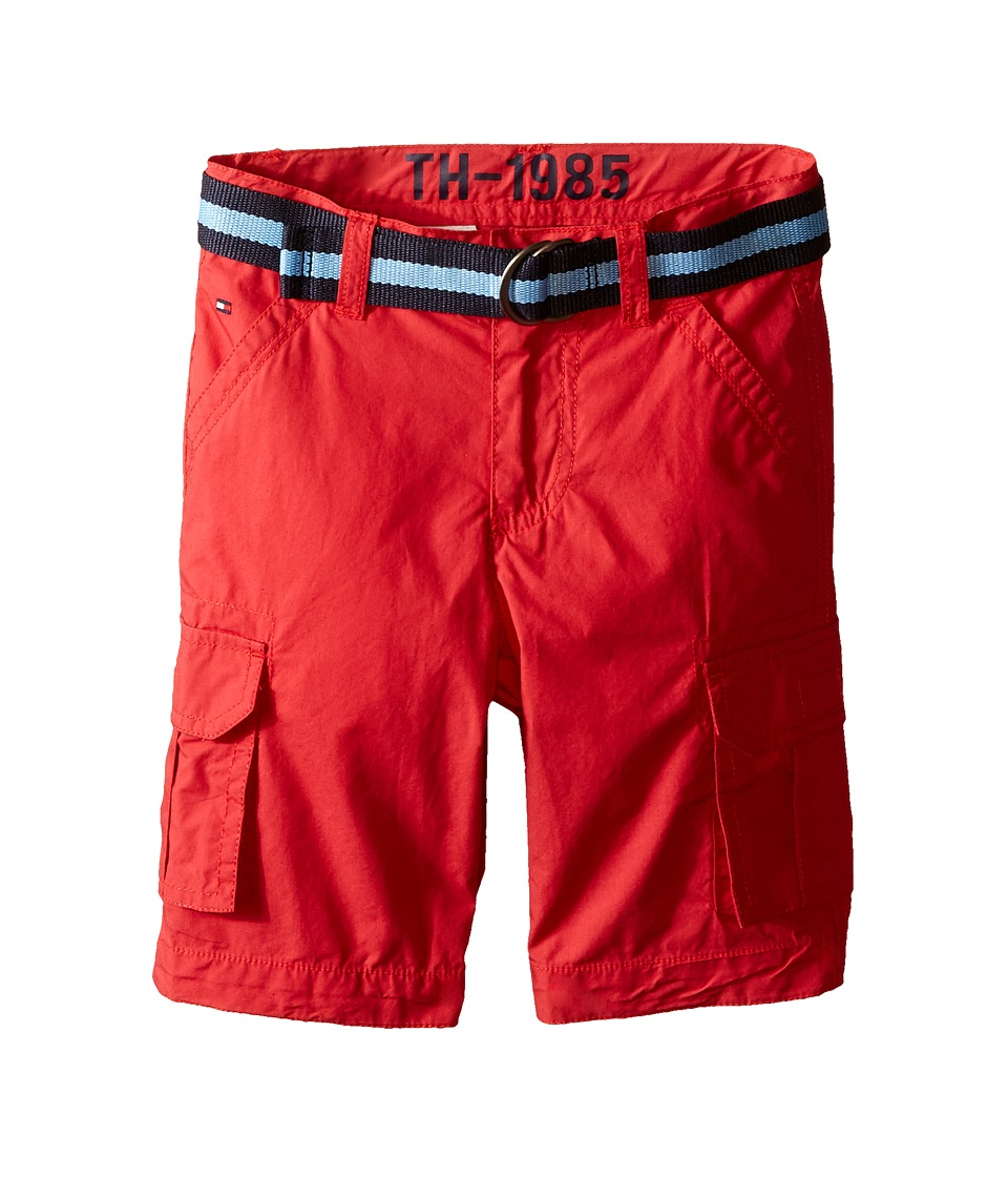 Tommy Hilfiger Kids Back Country Cargo Shorts Toddler/Little Kid Red Geranium Boys Shorts