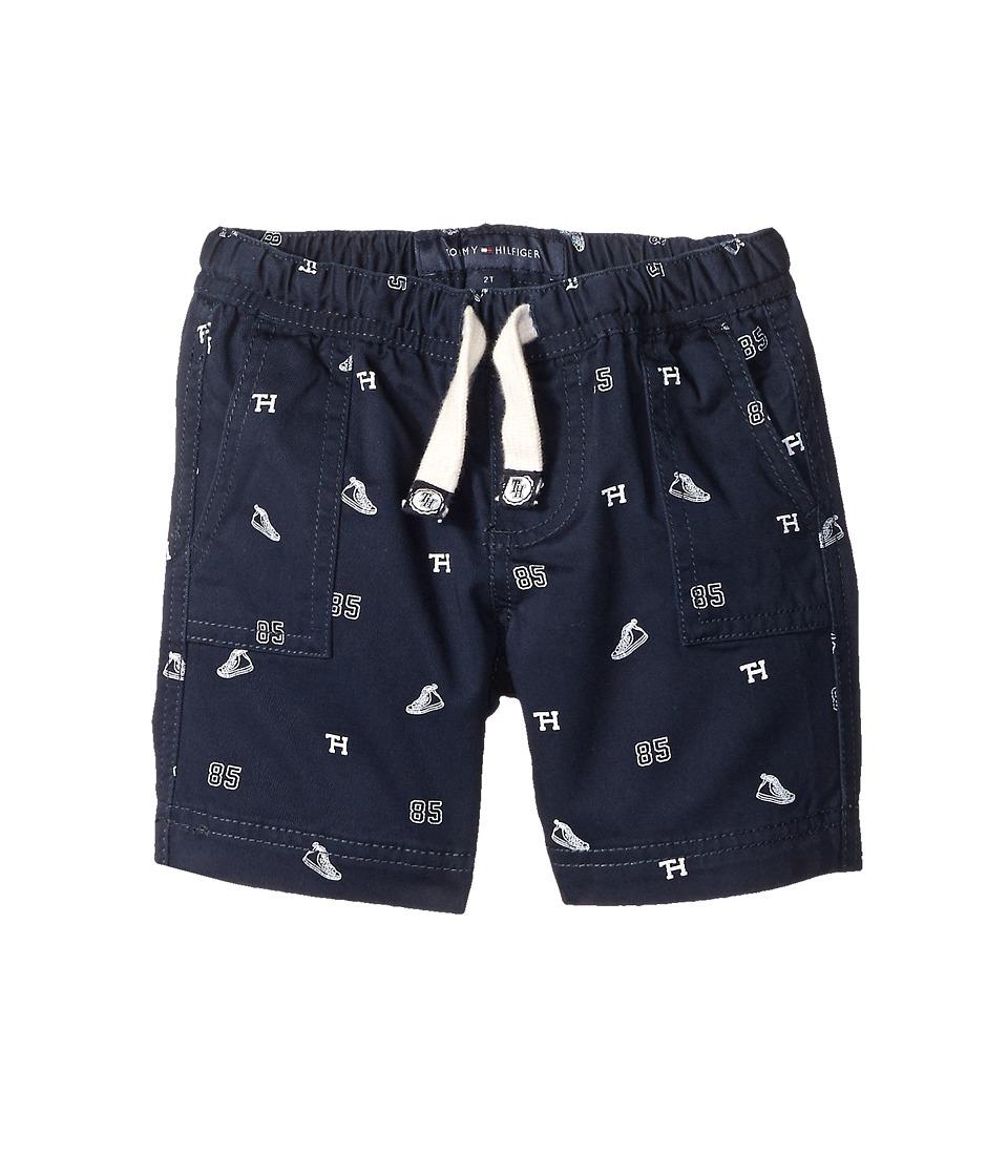 Tommy Hilfiger Kids High Top Schiffli Jogger Shorts Toddler/Little Kids Swim Navy Boys Shorts