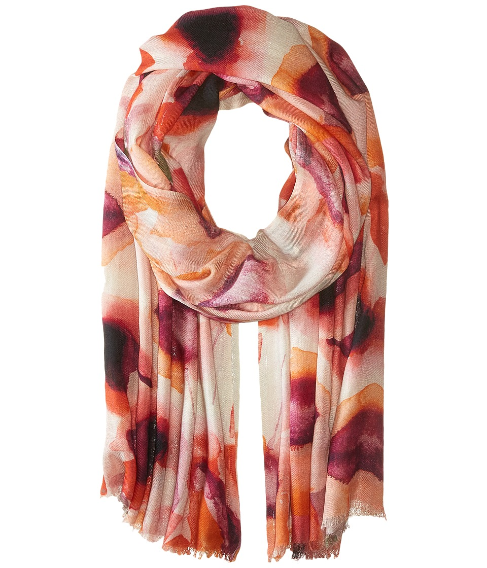Bindya Lilly Cashmere/Silk Wrap Red Scarves