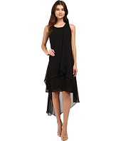 Christin Michaels - Fenella Layered High-Low Dress
