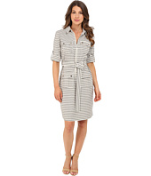 Christin Michaels - Erica Stripe Shirtdress