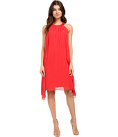 Christin Michaels - Fen Chiffon Side Draped Dress