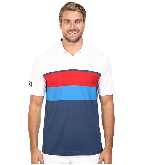adidas Golf CLIMACOOL® USA Engineered Stripe Polo