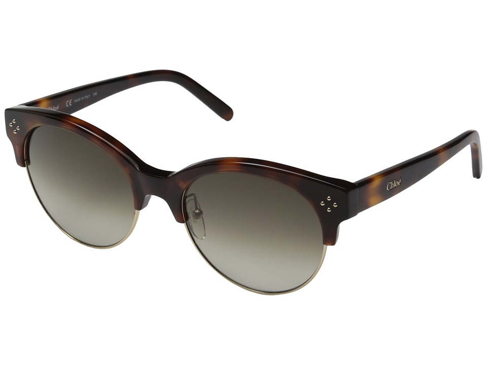 Chloe Boxwood Havana Fashion Sunglasses