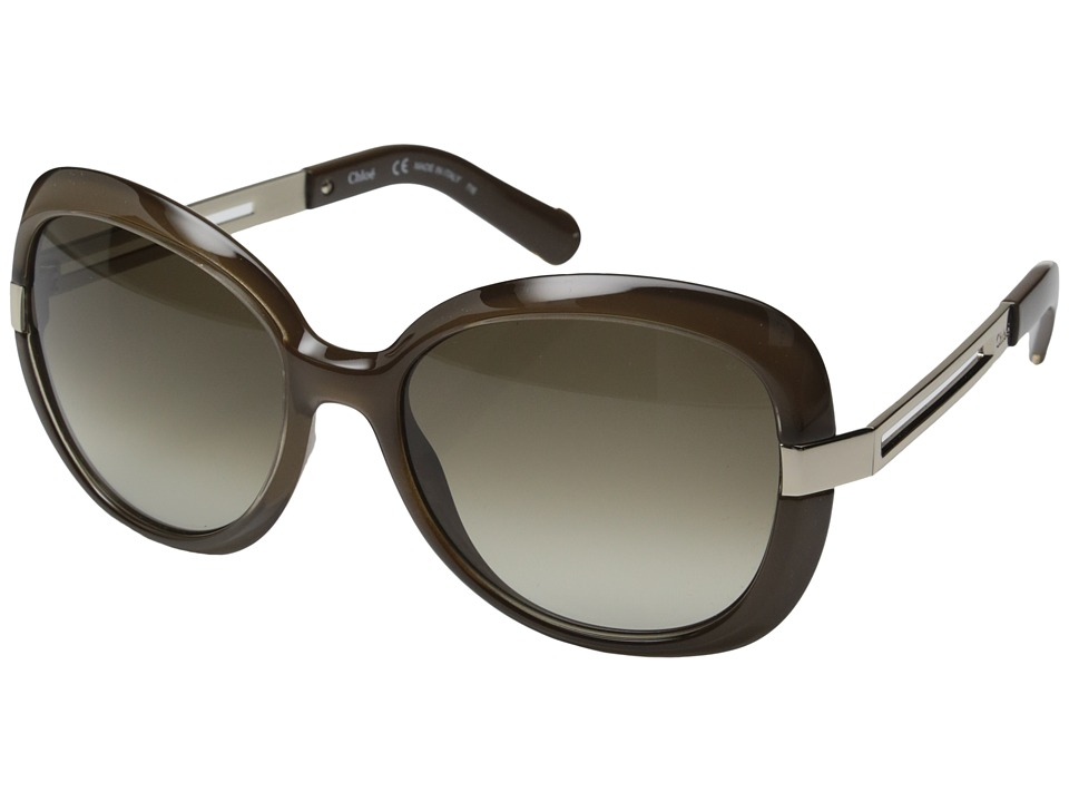 Chloe Bianca Dark Khaki Fashion Sunglasses