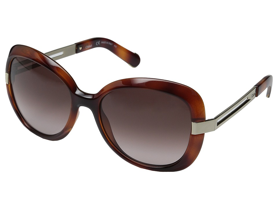Chloe Bianca Light Havana Fashion Sunglasses