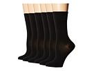 Mid-Length Solid Mercerized Cotton Socks - 6 pack