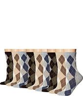 Ecco Socks - Argyle Crew Socks - 9 pack