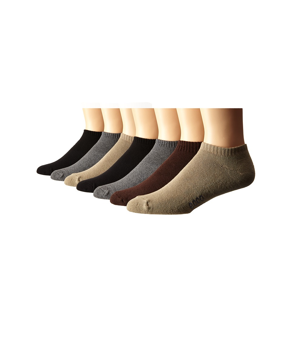 Ecco Socks Cotton/Cushion No Show Socks 7 pack Black/Charcoal/Taupe/Brown Mens No Show Socks Shoes