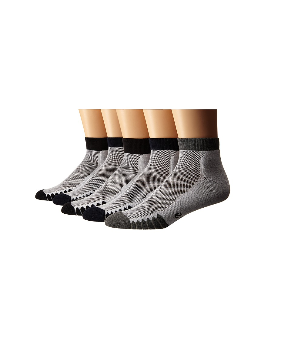 Ecco Socks Anklet Cushion w/ Mesh Top Socks 6 pack Black/Navy/Gray Mens Quarter Length Socks Shoes