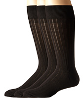 Ecco Socks - Dress Rib Silk Socks - 3 pack